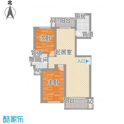 新时代景庭上海新时代景庭C单元2室户型2室