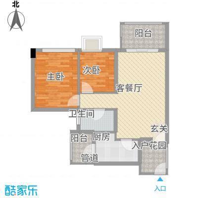 兴隆华庭85.00㎡兴隆华庭2室户型2室