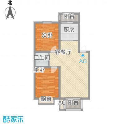 鑫丰御景华庭 2室 户型图