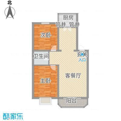 兴龙苑户型图2室2厅1卫