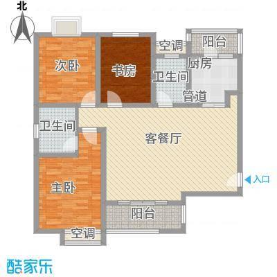 天亚水景城户型图 户型图 3室2厅2卫1厨