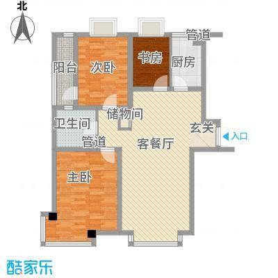 清华同方信息港户型图3室2厅1卫