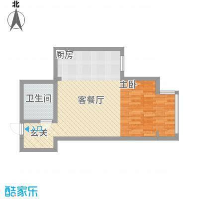 千缘爱城66.20㎡千缘爱城户型10室