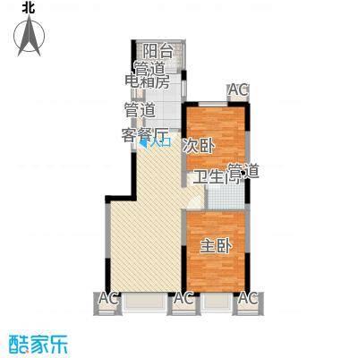 恒润御林湾101.00㎡恒润御林湾2室户型2室