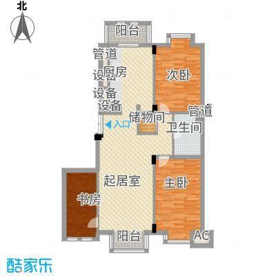 美林逸墅123.75㎡美林逸墅户型图3室2厅1卫户型10室