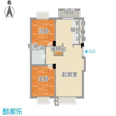 美林逸墅116.45㎡美林逸墅户型图2室2厅1卫户型10室