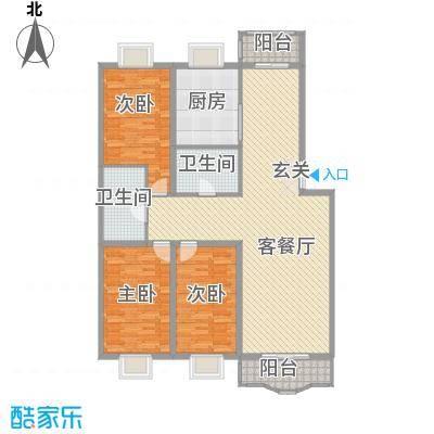 四海花园167.00㎡四海花园户型图3室2厅2卫户型10室