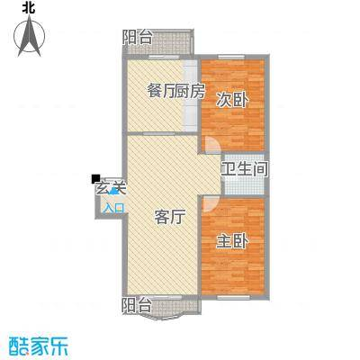 翰林家园116.00㎡翰林家园2室户型2室