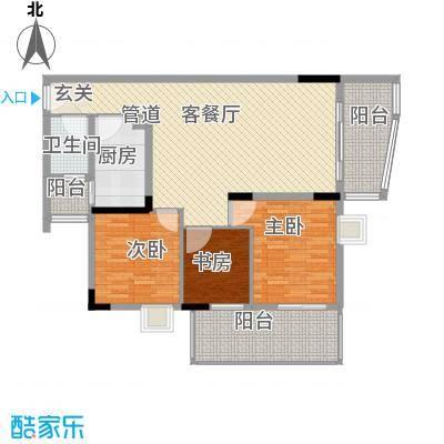 鸿通花园133.00㎡鸿通花园3室户型3室