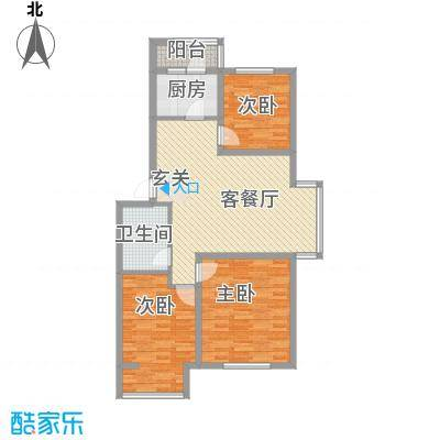 纳帕阳光97.00㎡纳帕阳光户型图C43室2厅1卫户型3室2厅1卫