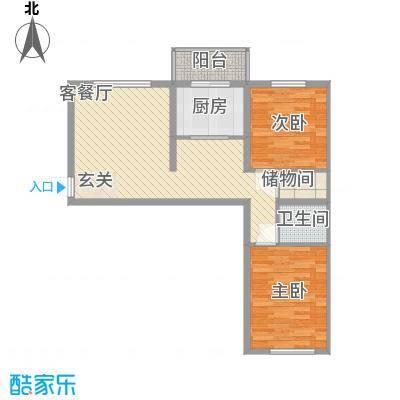 和皇家园88.10㎡和皇家园户型图2室1厅1卫户型10室