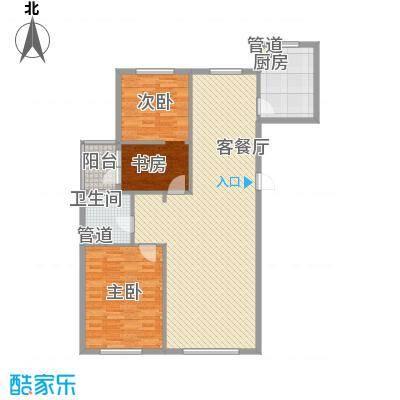 顺德园121.10㎡顺德园户型图M户型3室2厅1卫户型3室2厅1卫