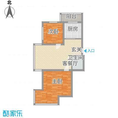 和皇家园102.41㎡和皇家园户型图2室2厅1卫户型10室