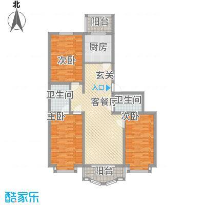 鸿雁家园户型图3室2厅2卫