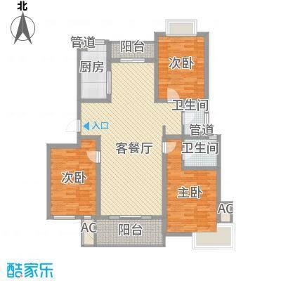 中锐山水映象146.62㎡中锐山水映象户型图户型图3室2厅2卫1厨户型3室2厅2卫1厨