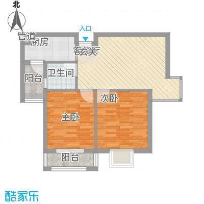 谢岗山水花城63.00㎡谢岗山水花城户型图A1栋1-3单元2室1厅1卫户型2室1厅1卫