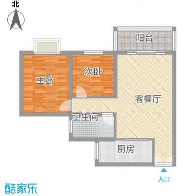 南峰花园南峰花园2室2厅1卫户型2室2厅1卫