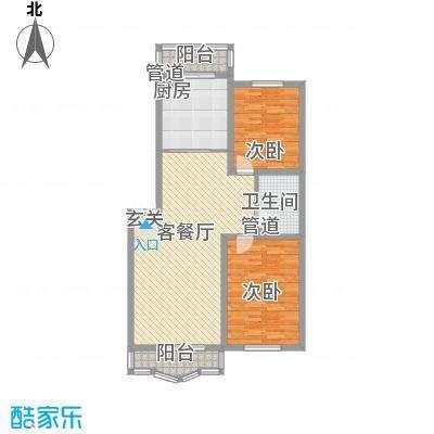 鑫丰金园112.71㎡鑫丰金园户型图2室2厅1卫户型10室