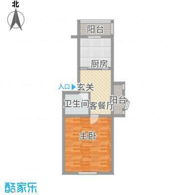 鑫丰金园63.42㎡鑫丰金园户型图1室1厅1卫户型10室