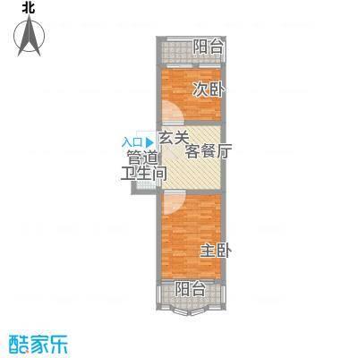 鑫丰金园68.64㎡鑫丰金园户型图2室1厅1卫户型10室