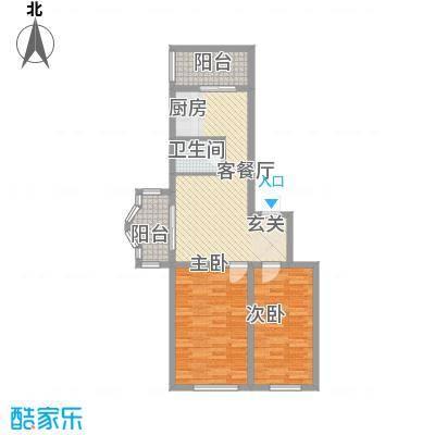 鑫丰金园81.08㎡鑫丰金园户型图2室2厅1卫户型10室
