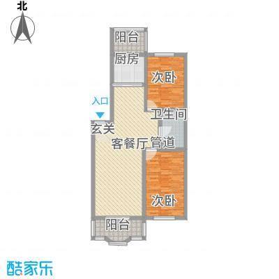 鑫丰金园103.33㎡鑫丰金园户型图2室2厅1卫户型10室