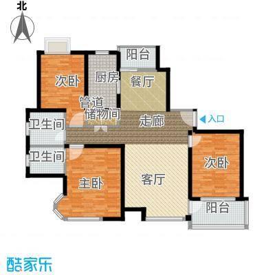 新时代富嘉花园130.98㎡新时代富嘉花园户型图F型户型图3室2厅2卫1厨户型3室2厅2卫1厨