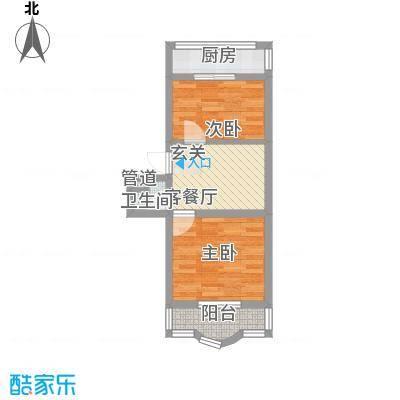 鑫丰金园62.79㎡鑫丰金园户型图2室1厅1卫户型10室