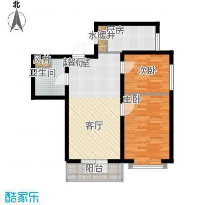 海岸东方81.10㎡海岸东方户型图D2、D4#楼户型2室2厅1卫1厨户型2室2厅1卫1厨