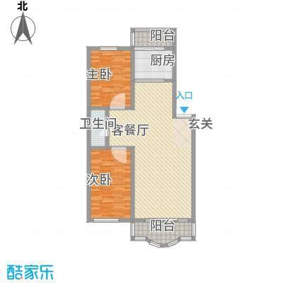 鑫丰金园108.31㎡鑫丰金园户型图2室2厅1卫户型10室