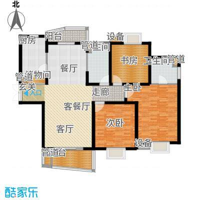 信通浦皓园144.52㎡信通浦皓园户型图3号楼(3-14层)3室2厅1卫1厨户型3室2厅1卫1厨