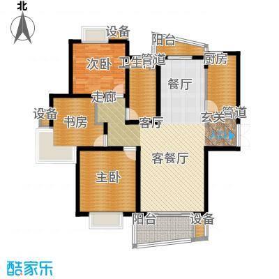 信通浦皓园122.06㎡信通浦皓园户型图2号楼(3-14层)3室2厅1卫1厨户型3室2厅1卫1厨