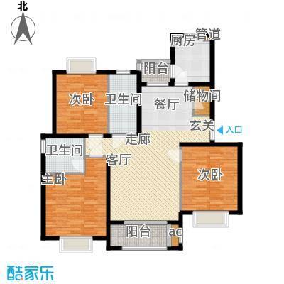 金光大道111.00㎡金光大道户型图C2户型3室2厅2卫户型3室2厅2卫