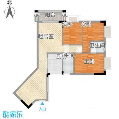 桥华楼106.52㎡桥华楼户型图3室2厅户型图3室2厅2卫1厨户型3室2厅2卫1厨