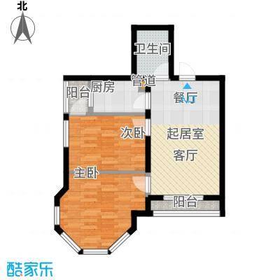绿地新里・摩尔公馆71.00㎡绿地新里・摩尔公馆2室户型2室