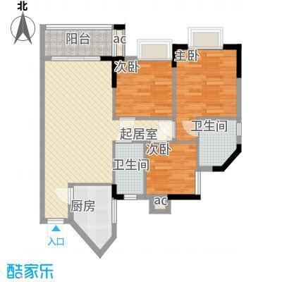桥华楼88.05㎡桥华楼户型图3室2厅户型图3室2厅2卫1厨户型3室2厅2卫1厨