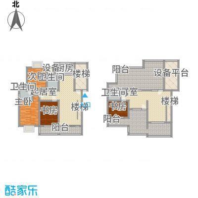 鸿运华庭206.00㎡鸿运华庭户型图F(复式)3室3厅2卫1厨户型3室3厅2卫1厨