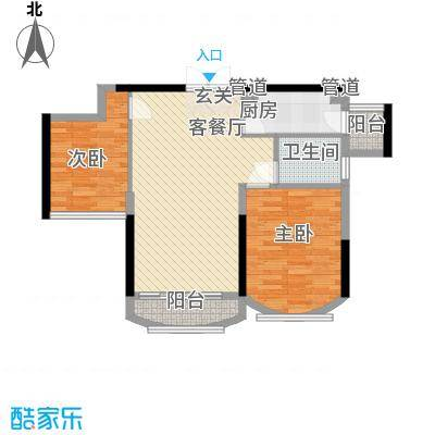 君地风华89.00㎡君地风华户型图D户型2室2厅1卫1厨户型2室2厅1卫1厨
