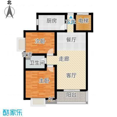 凯荣国际花园88.00㎡凯荣国际花园2室户型2室