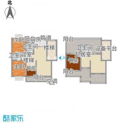 鸿运华庭181.00㎡鸿运华庭户型图E(复式)3室3厅3卫1厨户型3室3厅3卫1厨