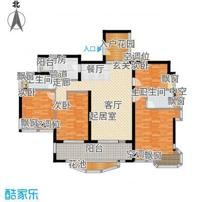 雅景湾152.00㎡雅景湾户型图B01单位4室2厅户型4室2厅
