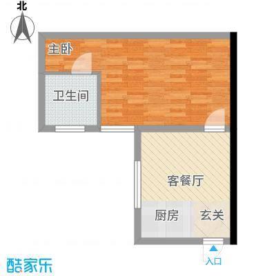 勋望社区55.00㎡勋望社区1室户型1室