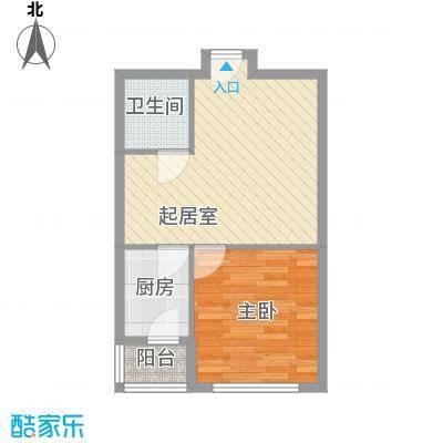 宏伟茗都三期54.00㎡宏伟茗都(三期)1室户型1室