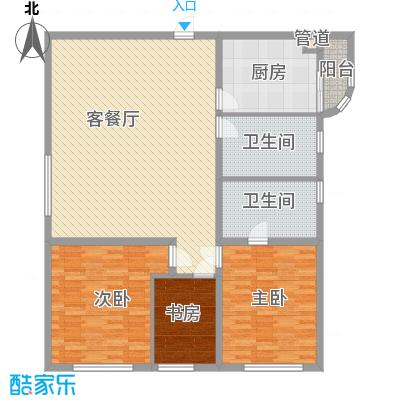 静安国际广场公寓156.18㎡静安国际广场公寓户型图3室2厅2卫1厨户型10室