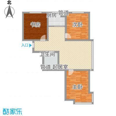 世博家园120.77㎡世博家园户型图3室2厅1卫户型10室