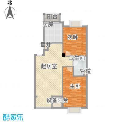 美林逸墅108.73㎡美林逸墅户型图B-2~5户型2室2厅1卫户型2室2厅1卫