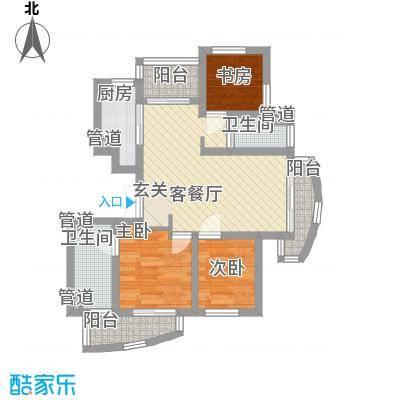 枫津新村80.00㎡枫津新村户型图户型图3室1厅1卫1厨户型3室1厅1卫1厨