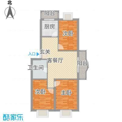 四海花园103.00㎡四海花园户型图3室2厅1卫户型10室