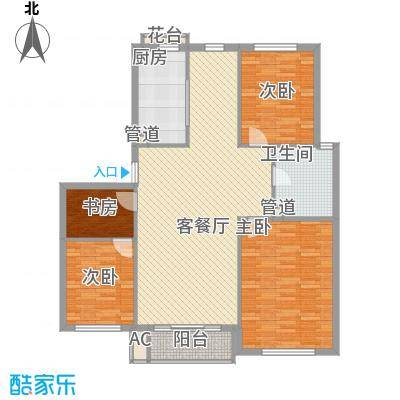 顺德园111.15㎡顺德园户型图G户型3室户型3室