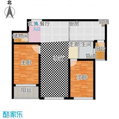 中虹花园锦绣文华92.00㎡中虹花园锦绣文华2室户型2室